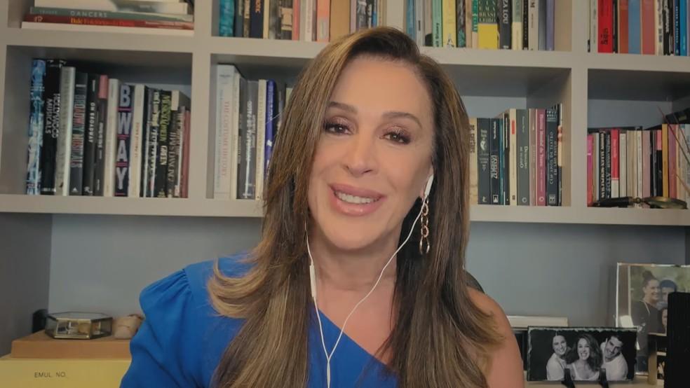 Conversa com Claudia Raia é depois do Jornal da Globo — Foto: Reprodução/TV Globo