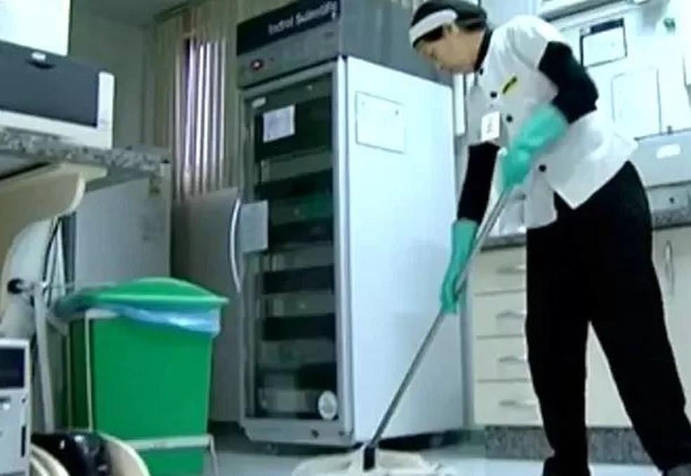 Siim tem vaga para auxiliar de limpeza — Foto: Reprodução / RRPCTV