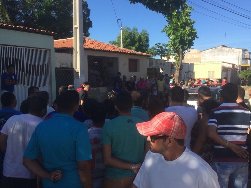 Crime foi na manhã desta sexta-feira (29) em Mossoró (Foto: Hugo Andrade/Inter TV Costa Branca)