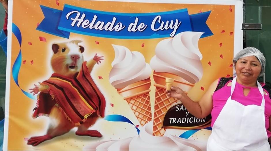 María del Carmen Pilapaña faz sucesso com sorvetes sabor porquinho-da-índia (Foto: Reprodução/Facebook)
