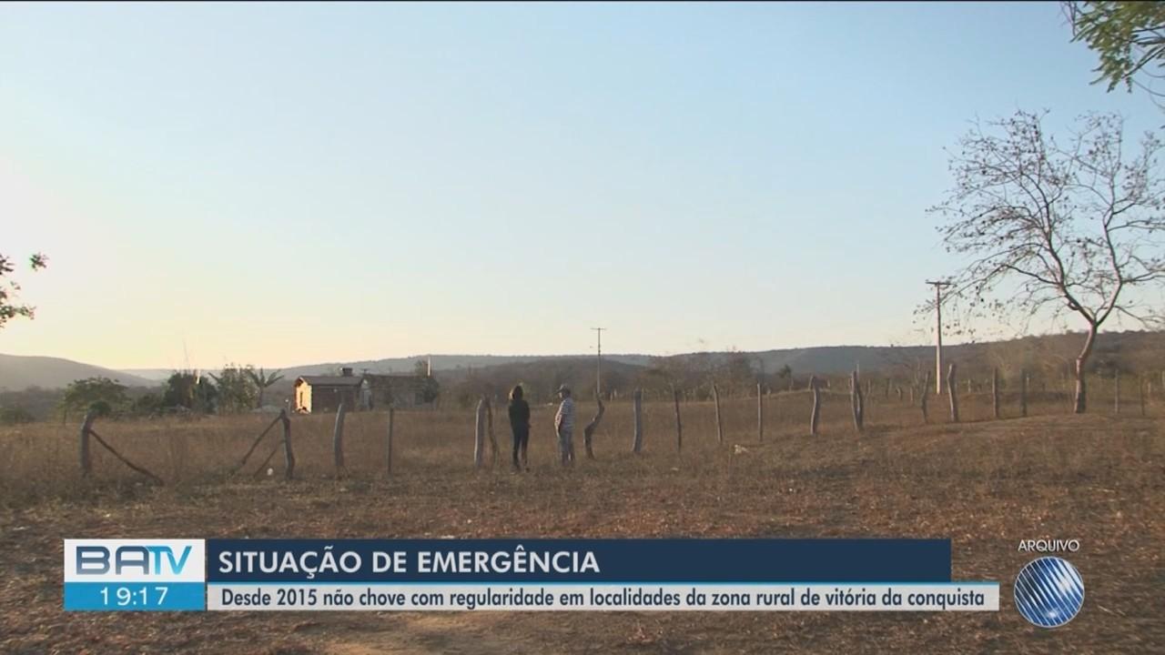 Vitória da Conquista está em situação de emergência por causa da estiagem desde 2015
