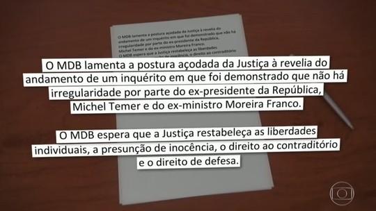 Prisão de Temer provoca reações distintas em Brasília