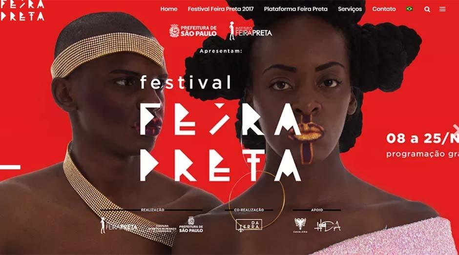 A Feira Preta é o principal evento de cultura negra da América Latina (Foto: Reprodução)