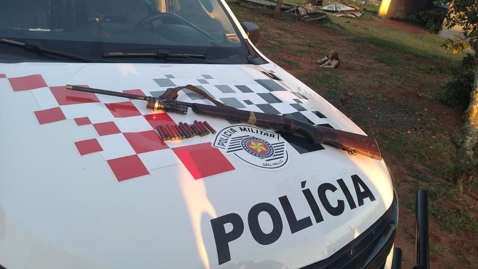 Polícia também apreendeu armas e munições em Ubirajara — Foto: Arquivo pessoal