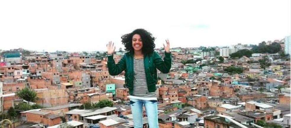 Veridiana Santana: alimentação se tornou um dos primeiros obstáculos no seu percurso acadêmico — Foto: Arquivo Pessoal/BBC News Brasil