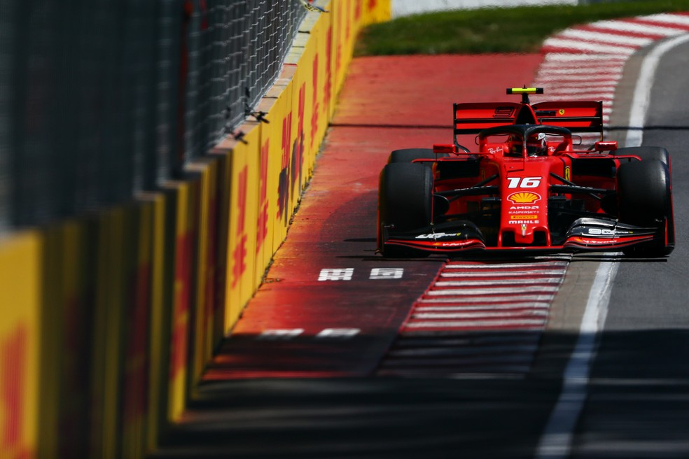 Charles Leclerc no treino classificatório do GP do Canadá — Foto: Getty images