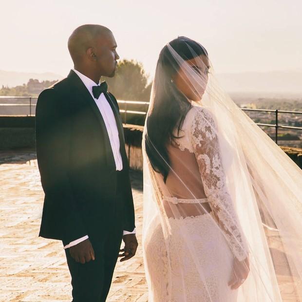 Kanye West e Kim Kardashian (Foto: Reprodução/Instagram)
