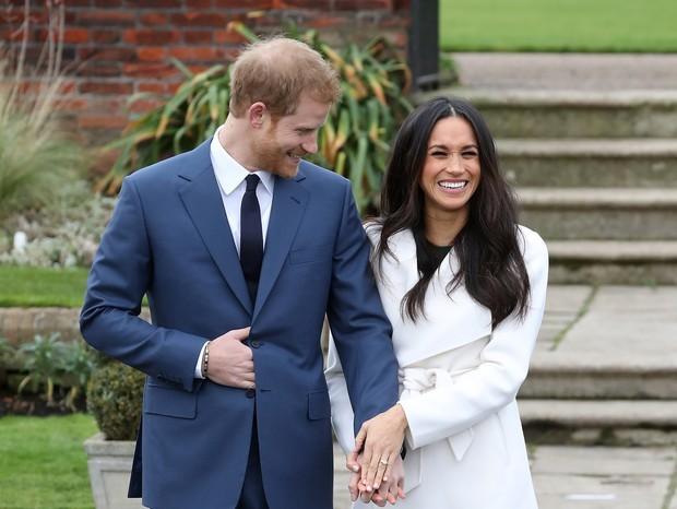 O Príncipe Harry e Megan em primeira aparição oficial (Foto: Getty Images)