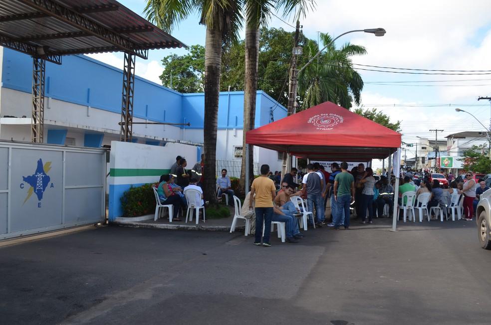 -  Servidores da CEA paralisaram atividades por dois dias  Foto: Jorge Abreu/G1