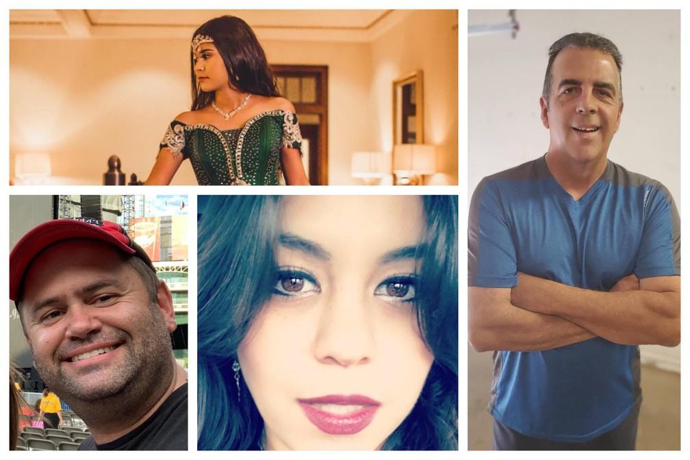 Quatro das sete vítimas do ataque do último sábado (31): Leilah Hernandez (topo); Rodolfo Arco (em pé); Joseph Griffith (esquerda); Mary Granados (direita). — Foto: Reprodução/Facebook e GoFundMe