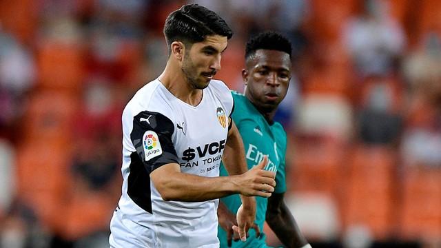 Vini Jr e Soler em Valencia x Real Madrid