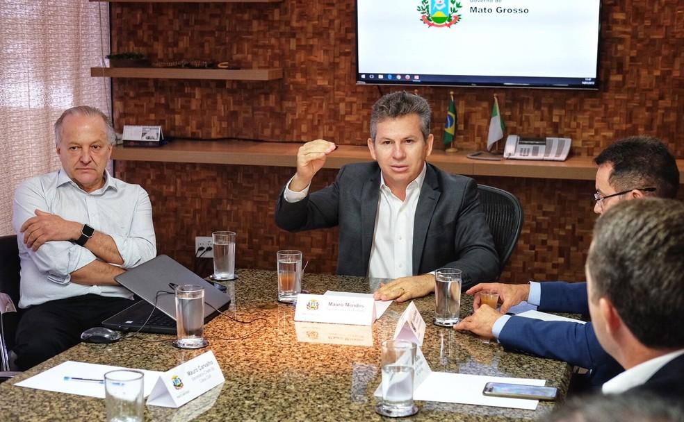 Mauro Mendes (DEM) decretou situação de emergência — Foto: Mayke Toscano/ Gcom-MT