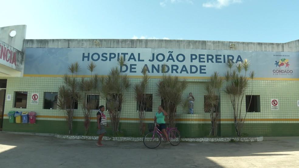 Hospital João Pereira de Andrade fica em Condado, na Zona da Mata Norte de Pernambuco — Foto: Reprodução/TV Globo