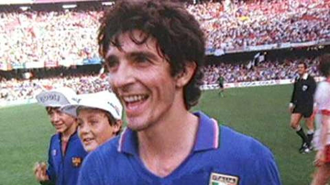 Confira imagens de Rossi na Copa de 1982
