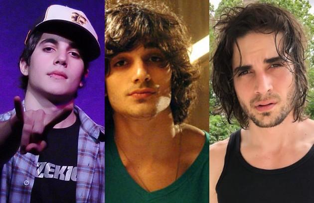 Fiuk na banda Hori, da qual foi vocalista, em 2007; como Bernardo de 'Malhação ID', em 2009, seu primeiro papel na TV. Atualmente, segue como cantor e ator (Foto: Divulgação e reprodução)