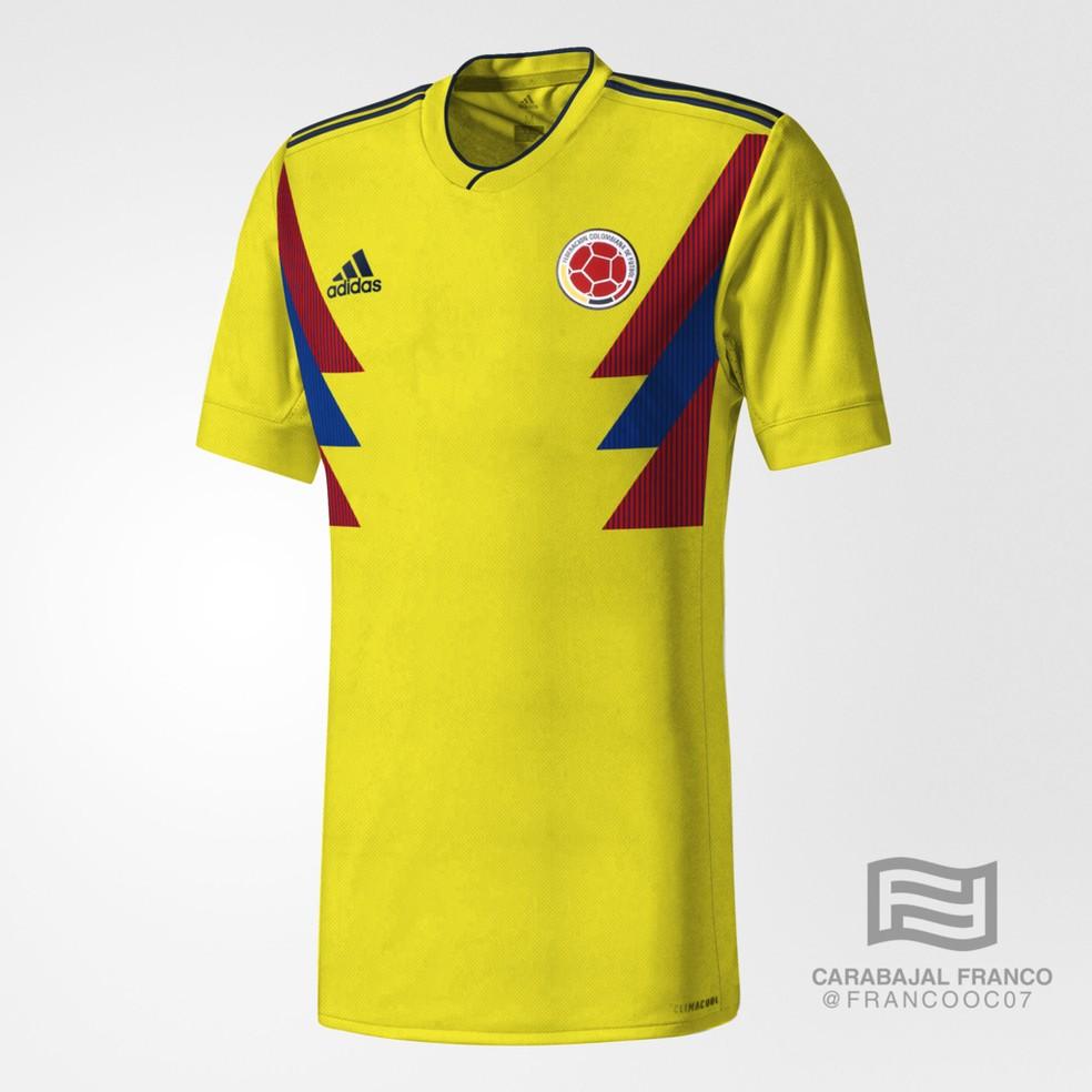 Suposta camisa da Colômbia para a Copa do Mundo (Foto: Reprodução / Instagram)