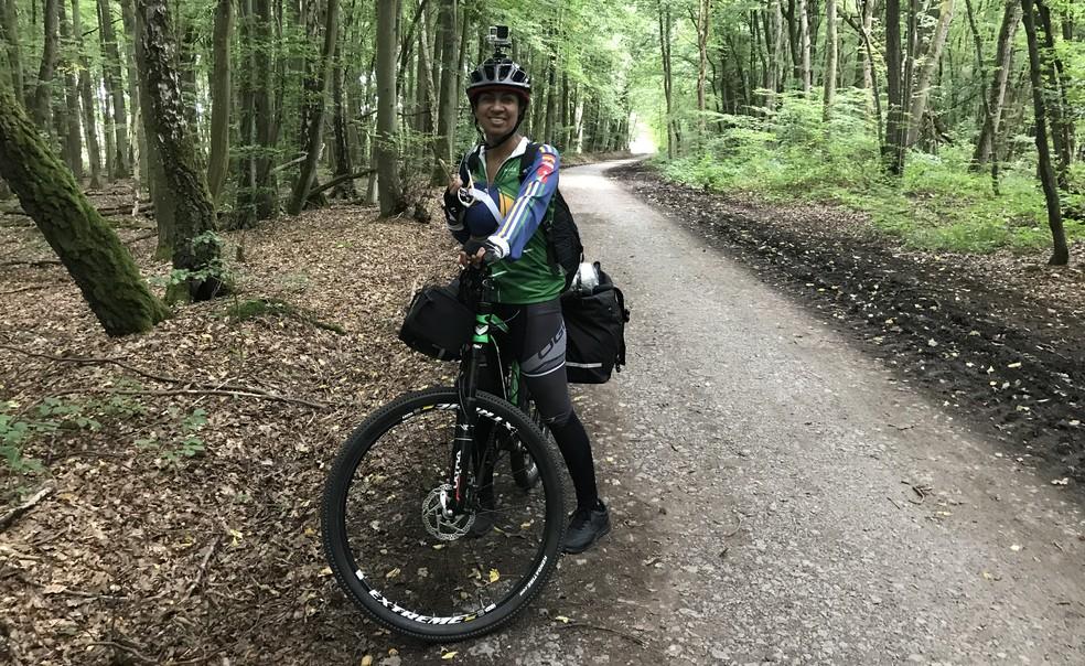 Bosque em Waldbüttelbrunn, na Alemanha (Foto: Arquivo pessoal)