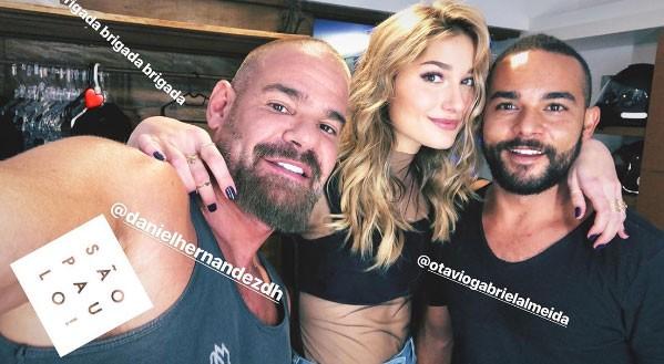 Sasha com Daniel Hernandez e Otavio Gabriel Almeida (Foto: Reprodução/Instagram)