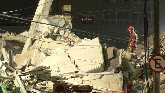 Desabamento em Fortaleza: nove feridos já foram resgatados