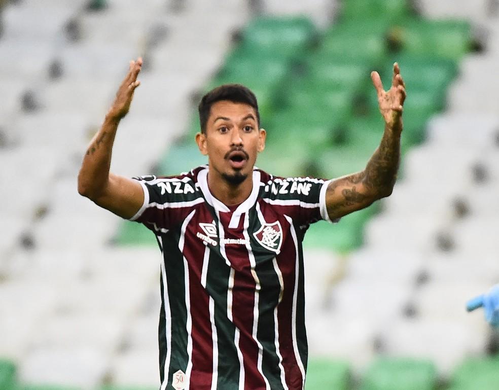 Lucca, atacante do Fluminense — Foto: André Durão