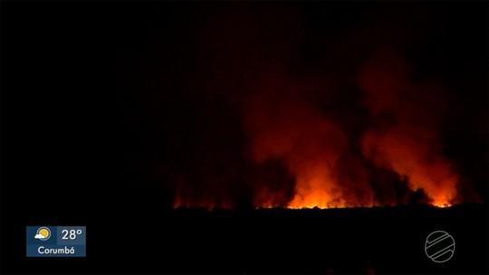 Incêndio está há 4 dias consumindo vegetação no Pantanal