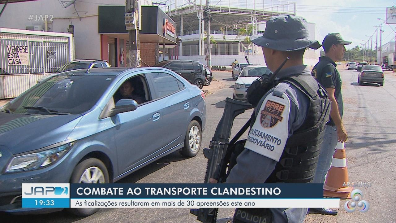 Fiscalizações de combate ao transporte clandestino já resultaram em mais de 30 apreensões