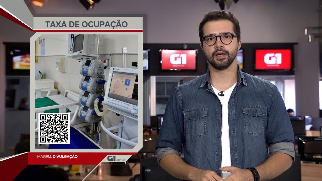 G1 em 1 Minuto: Taxa de ocupação dos leitos volta a passar de 90% na Grande São Luís