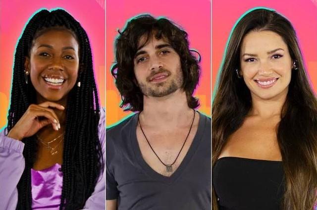 Camilla de Lucas, Fiuk e Juliette estão na final do 'BBB' 21 (Foto: Reprodução)