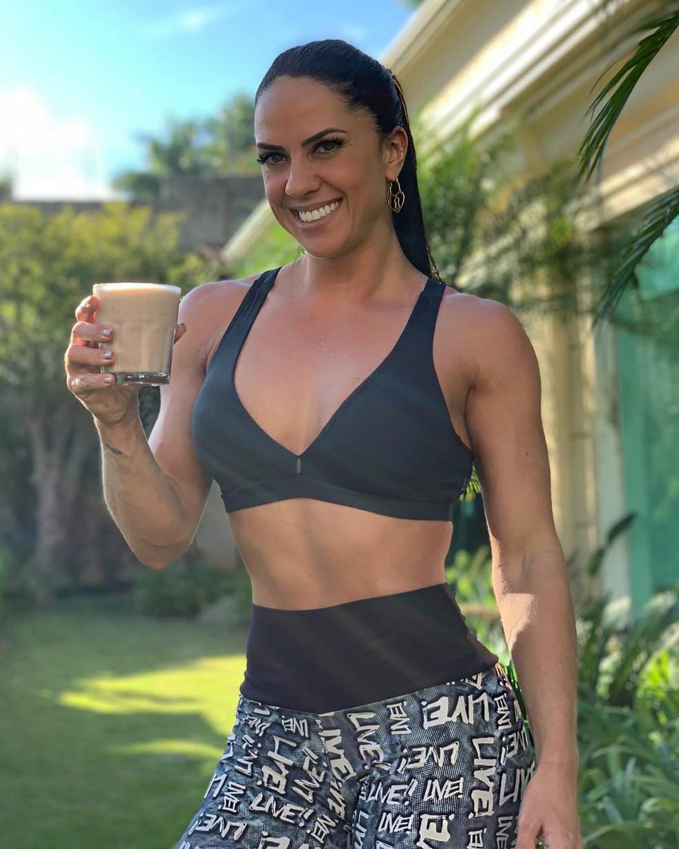 Graciele Lacerda fala sobre rotina de treinos pesada â?? Foto: Reprodução/Internet