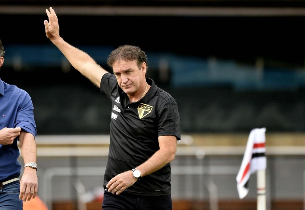 Cuca elogia desempenho do São Paulo contra o Corinthians — Foto: Marcos Ribolli