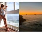 Isabella Santoni faz pose e mostra a vista de seu apartamento no Rio | Reprodução