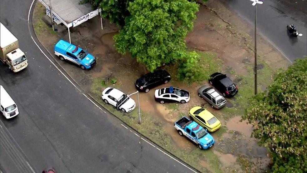 Local onde corpo do delegado foi encontrado (Foto: Reprodução TV Globo)