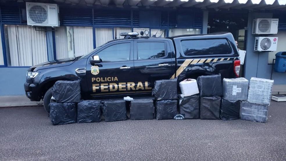 579 kg de cocaína apreendidas pela Polícia Federal e FAB  — Foto: PF/Divulgação