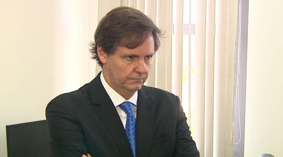 O promotor Eliseu José Berardo Gonçalves pediu a prisão dos policiais envolvidos na morte de Luana em Ribeirão Preto, SP (Foto: Reprodução/EPTV)