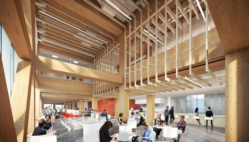 Estúdio projeta faculdade no Canadá que será neutra em emissões de carbono (Foto: Dialog)