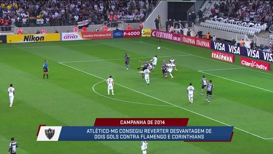 News relembra as duas viradas do Atlético-MG na campanha do título da Copa do Brasil em 2014