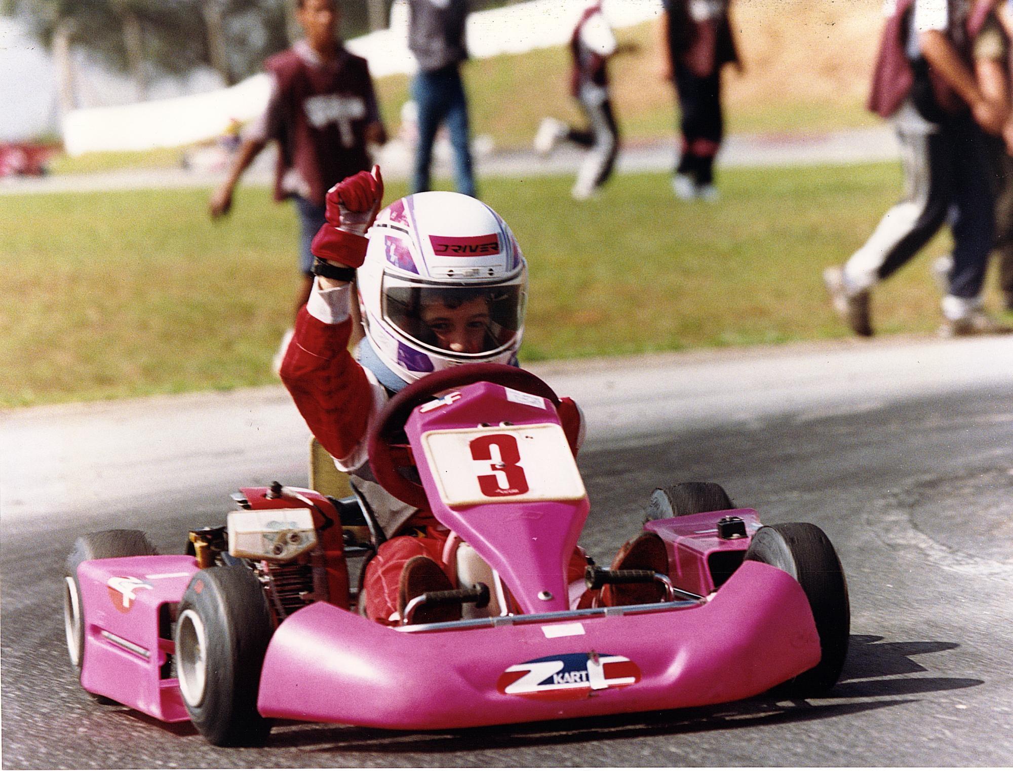 Bia Figueiredo competiu em provas de kart até os 18 anos de idade (Foto: Divulgação)