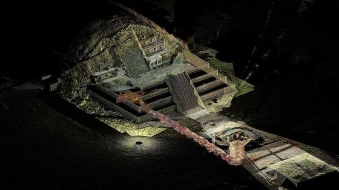 Especialistas dizem que túnel descoberto sob as pirâmides de Teotihuacán nunca será aberto ao público (Foto: SERGIO GÓMEZ/TLALOCAN/INAH)