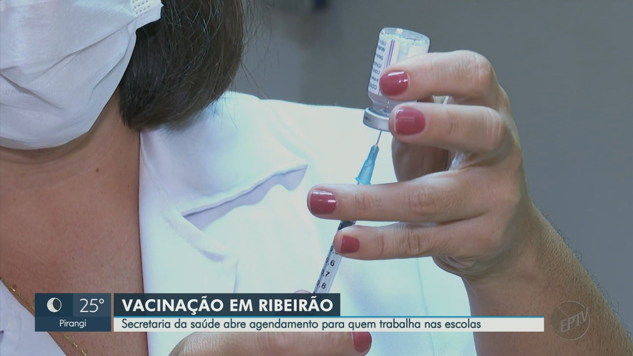 Ribeirão Preto abre agendamento da vacina contra Covid-19 para profissionais de educação