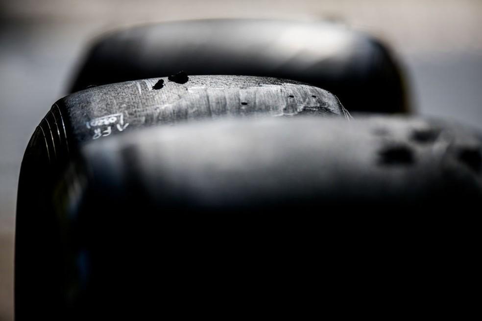 Pneus Pirelli da F1 — Foto: Peter Fox/Getty Image