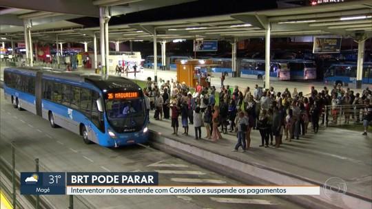 Interventor do BRT no Rio confirma suspensão de pagamentos e alerta que ônibus podem parar