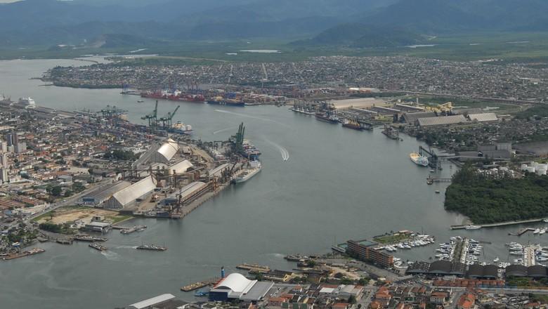 porto-santos-mar-navio (Foto: Ernesto de Souza/ Ed. Globo)