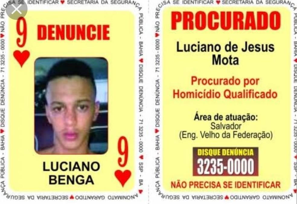 """""""Nove de Paus"""" foi preso na quinta-feira (13), no bairro Engenho Velho da Federação — Foto: Divulgação/SSP-BA"""