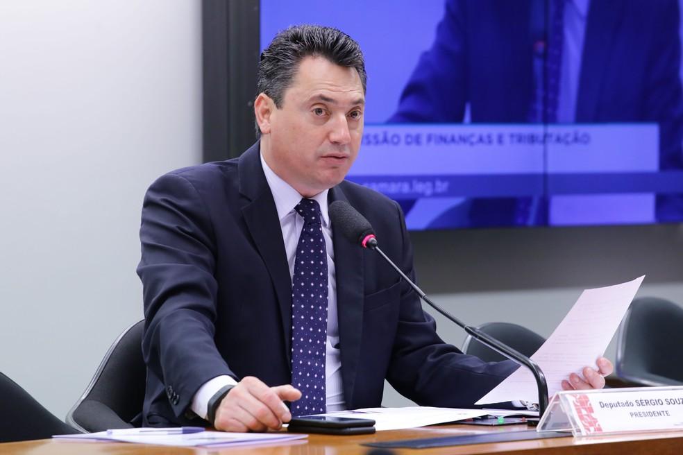 O deputado Sergio Souza durante reunião da Comissão de Finanças e Tributação da Câmara em setembro deste ano — Foto: Cleia Viana/Câmara dos Deputados