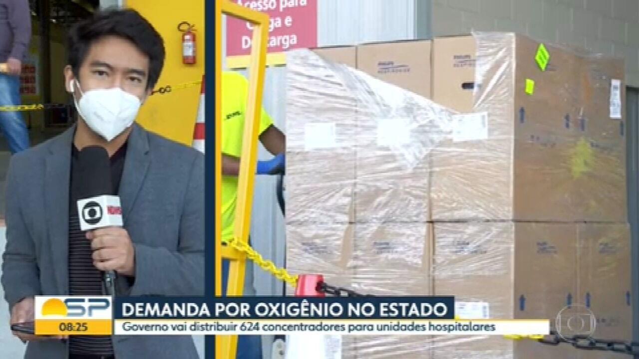 Governo de SP começa distribuir concentradores de oxigênio para hospitais no estado