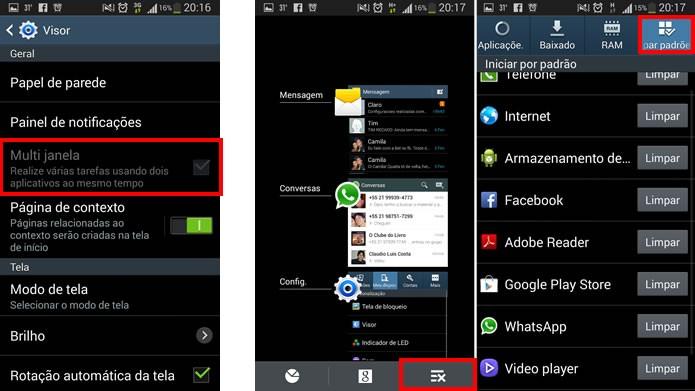 A opção de Multi Janela ainda não é compatível com o Android 4.3, mas as opções para controlar os apps em execução e monitorar o processamento estão melhores (Foto: Reprodução/Daniel Ribeiro)
