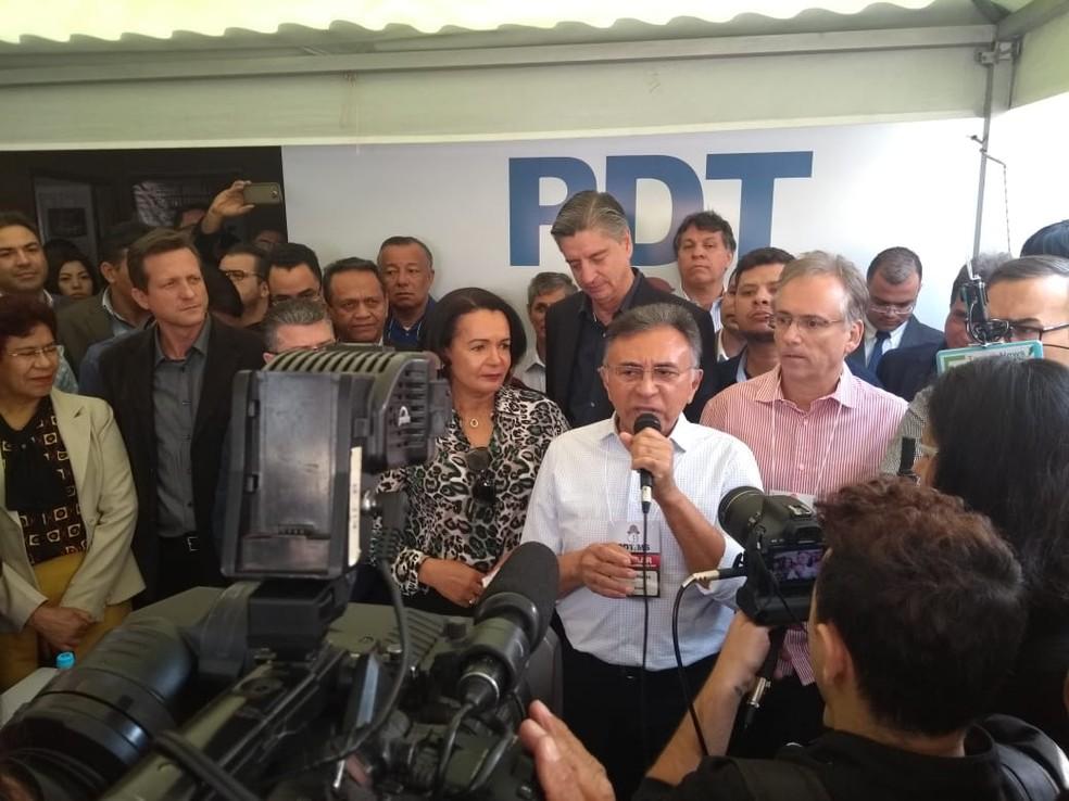 Odilon de Oliveira em convenção do PDT em Campo Grande, MS (Foto: Rodrigo Grando/ TV Morena)