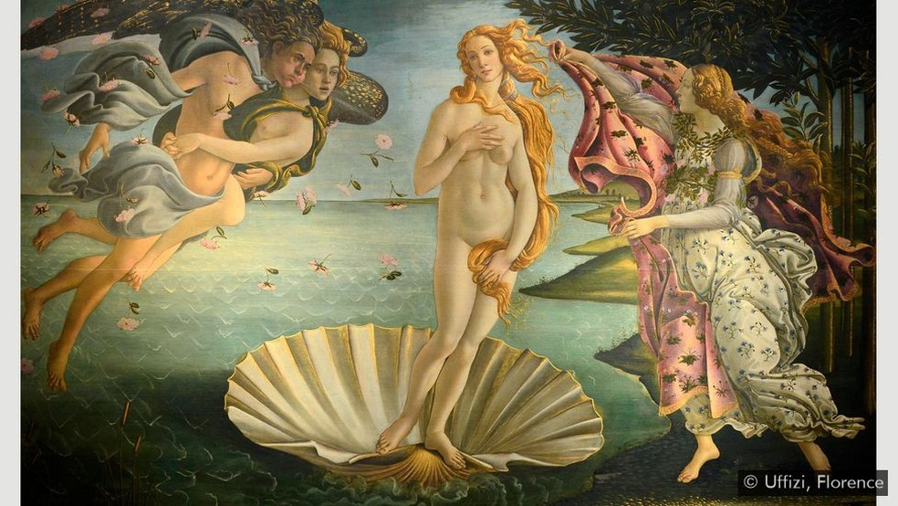 'O nascimento de Vênus' — Foto: Uffizi, Florença