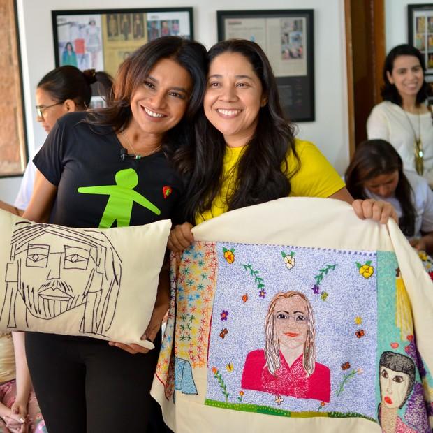 Dira Paes visitou o Instituto Proeza, em Brasília (Foto: Globo/Gabriel Souto)