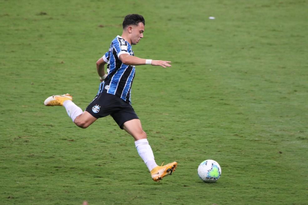 Pepê na final da Copa do Brasil contra o Palmeiras — Foto: Eduardo Moura/ge
